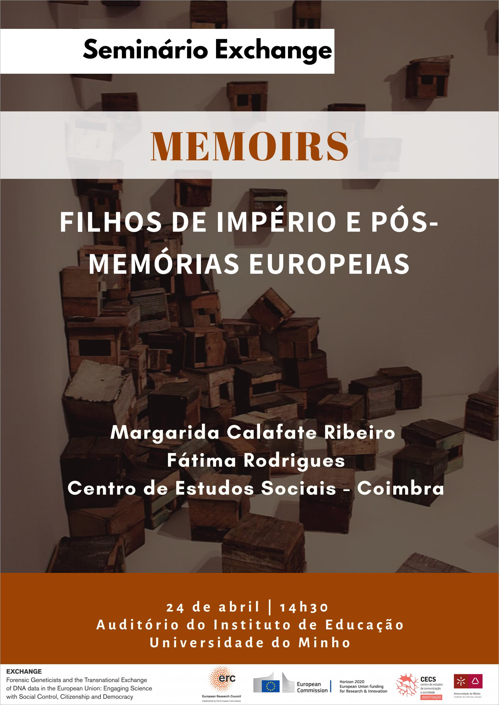 """Seminário Exchange """"Memoirs. Filhos de Império e Pós-Memórias Europeias"""""""