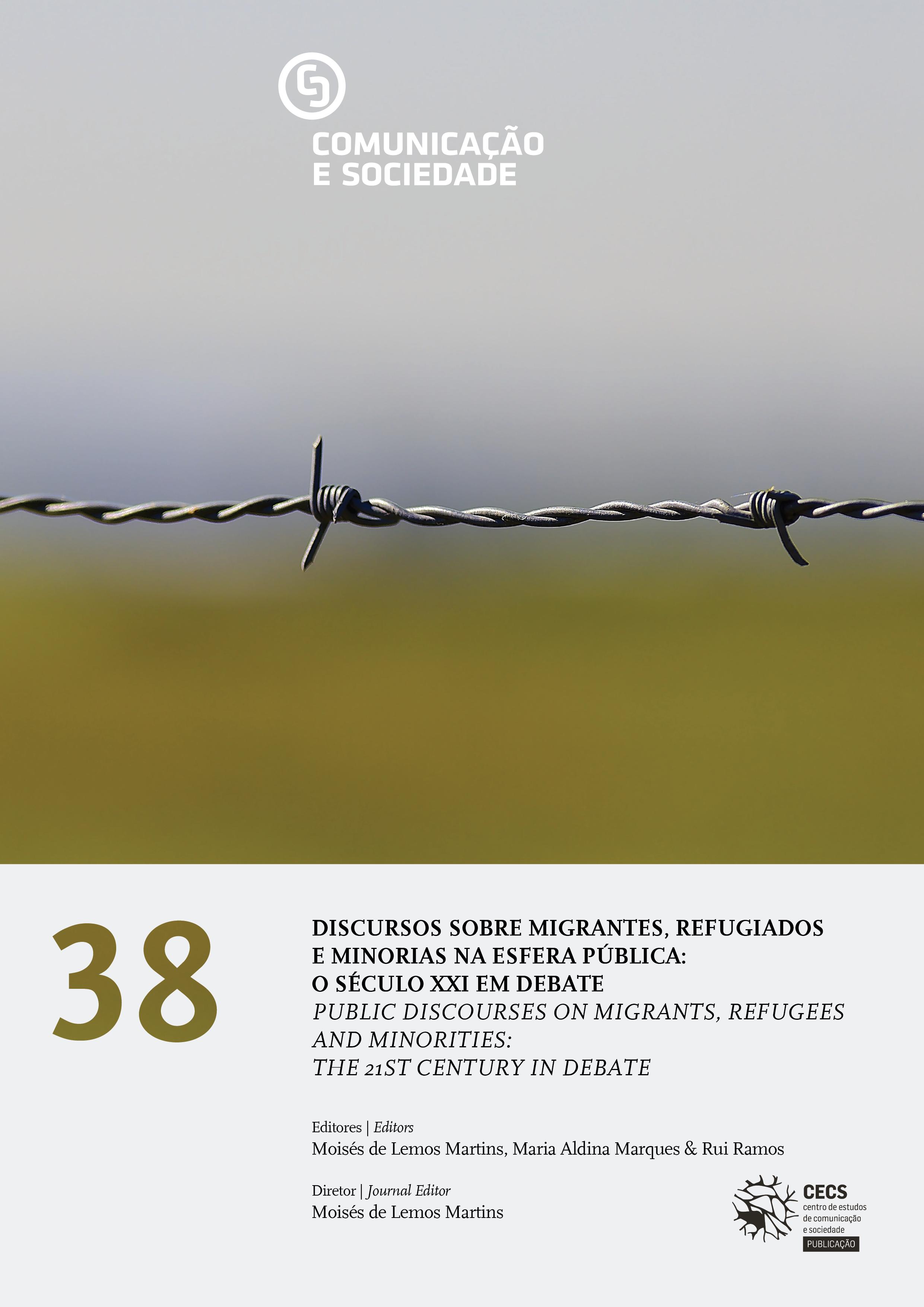 """Disponível nova Comunicação e Sociedade dedicada ao tema """"Discursos sobre migrantes, refugiados e minorias na esfera pública: o século XXI em debate"""""""