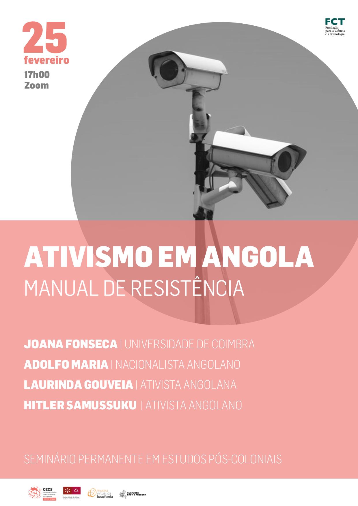 """Seminário """"Ativismo em Angola: manual de resistência"""""""