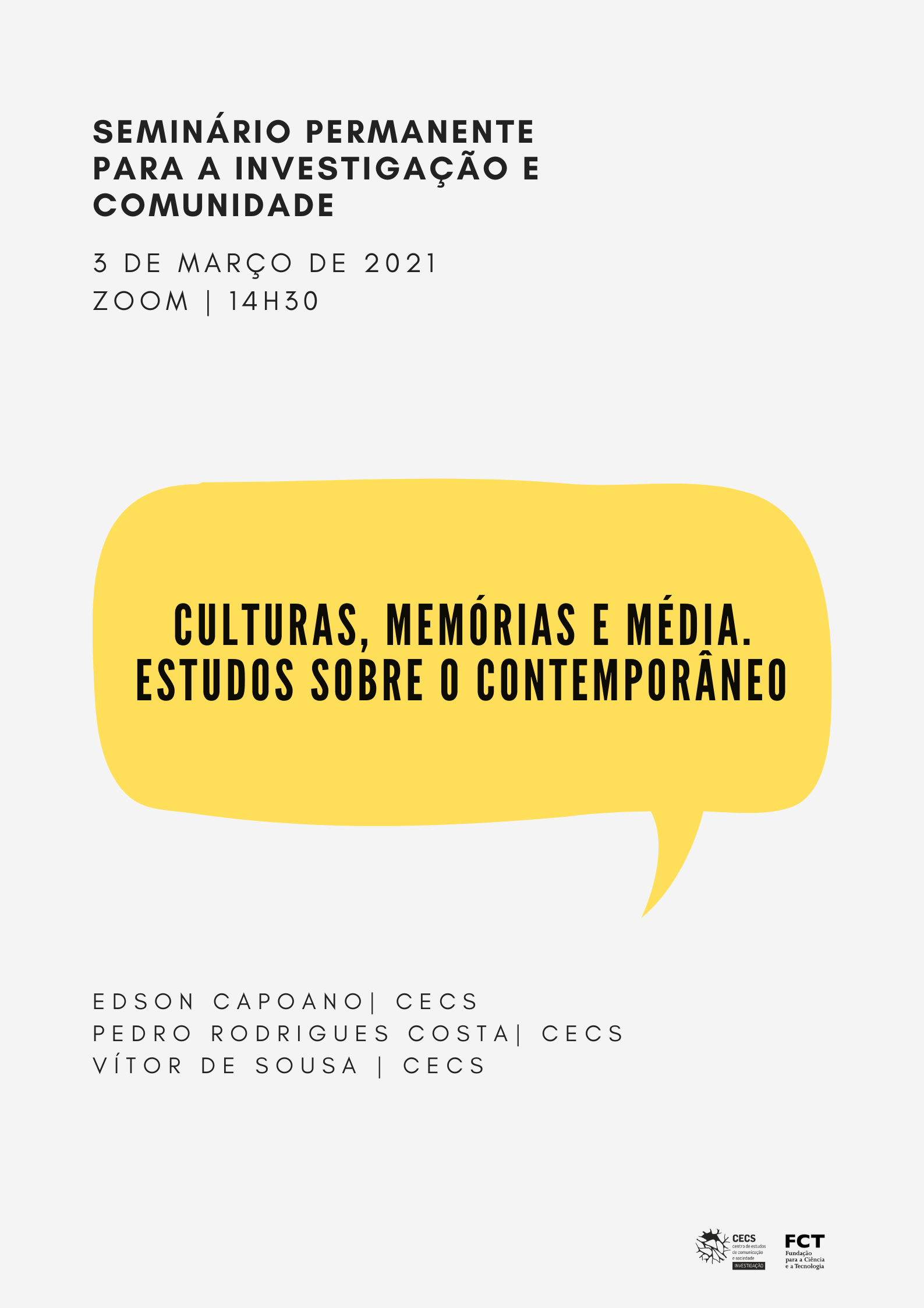 """Review the seminar """"Cultures, Memories and Media. Studies on the contemporary """""""