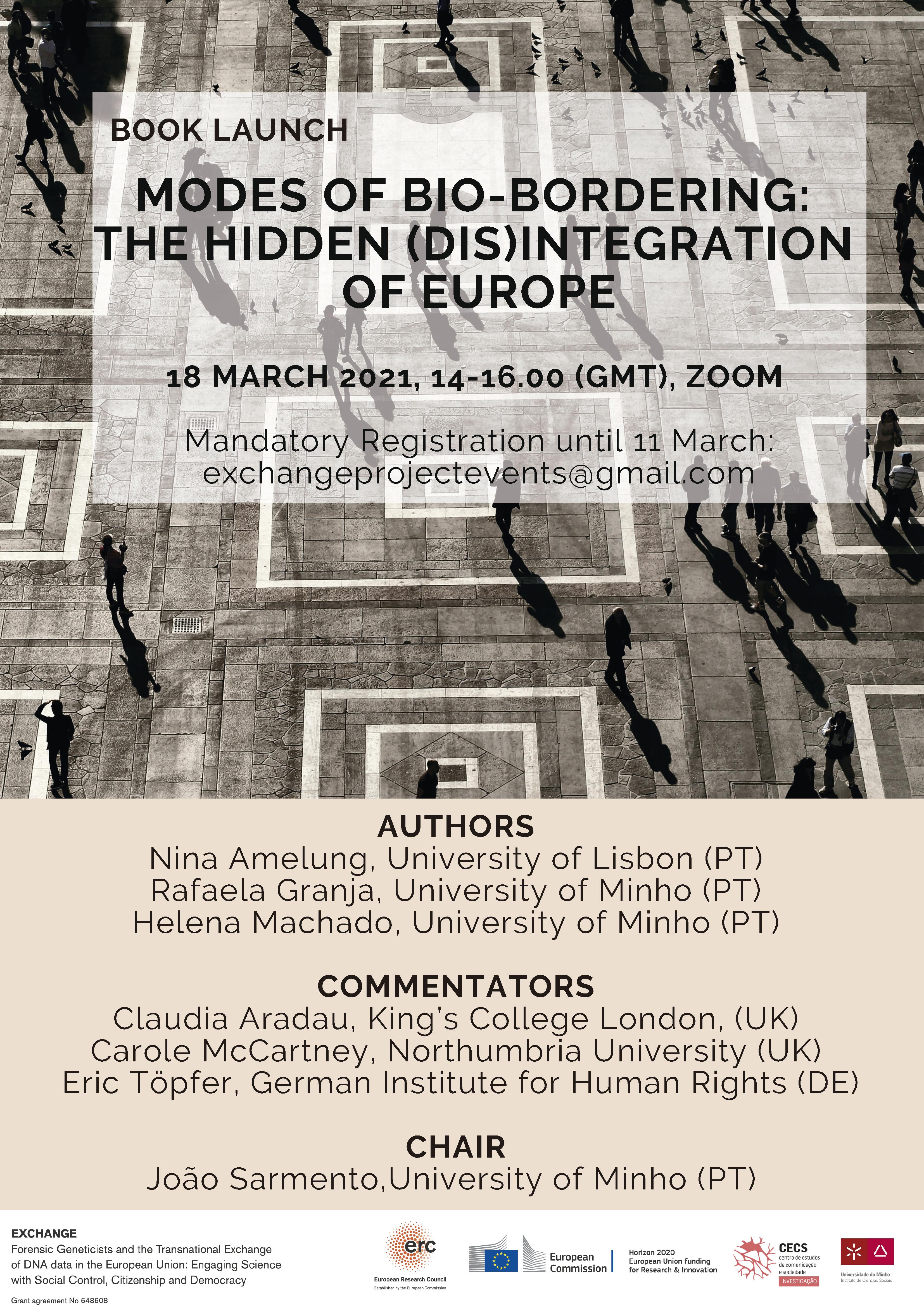 """Apresentação online do livro """"Modes of Bio-Bordering: The Hidden (Dis)integration of Europe"""""""