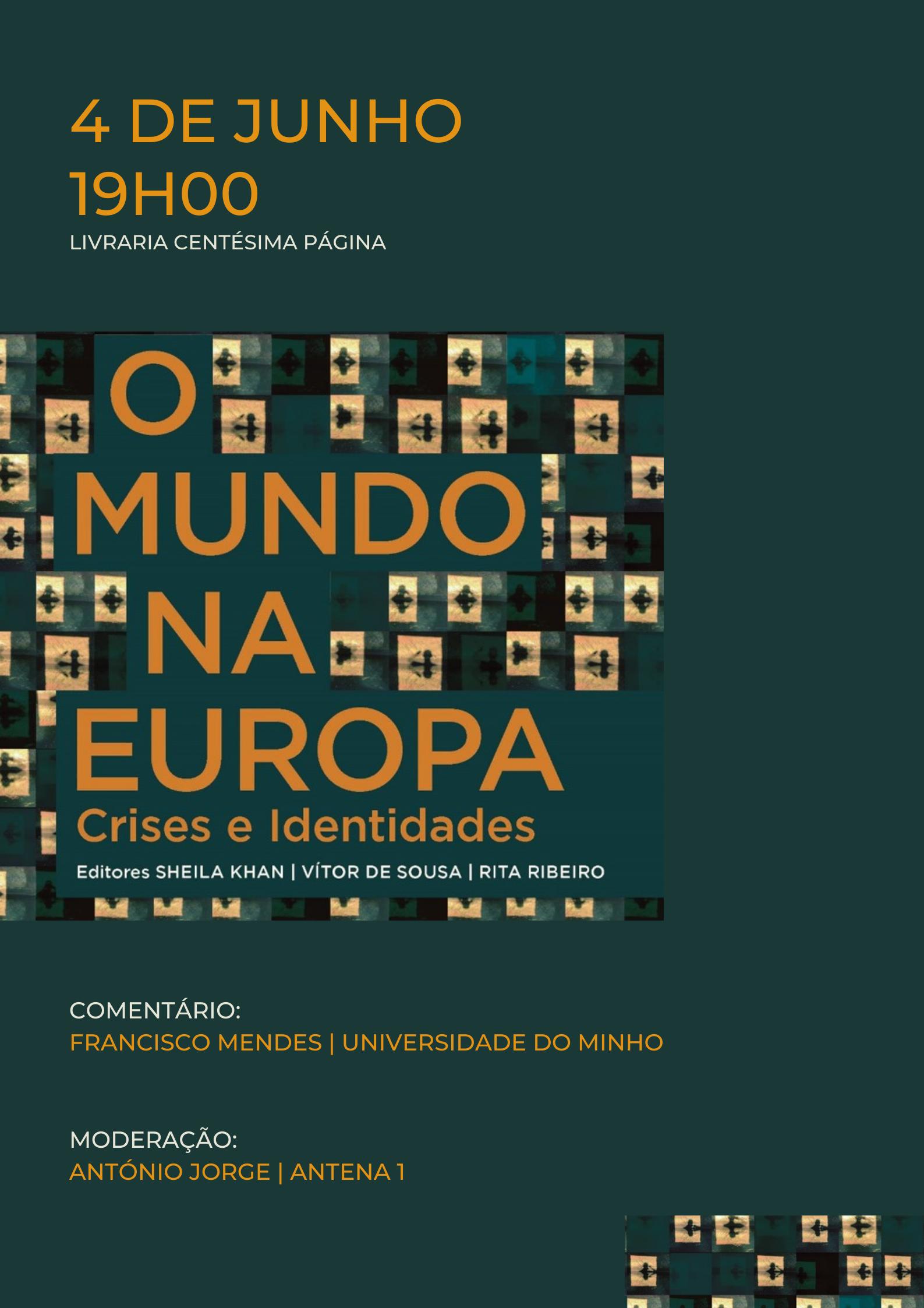 """Apresentação do livro """"O Mundo na Europa"""""""
