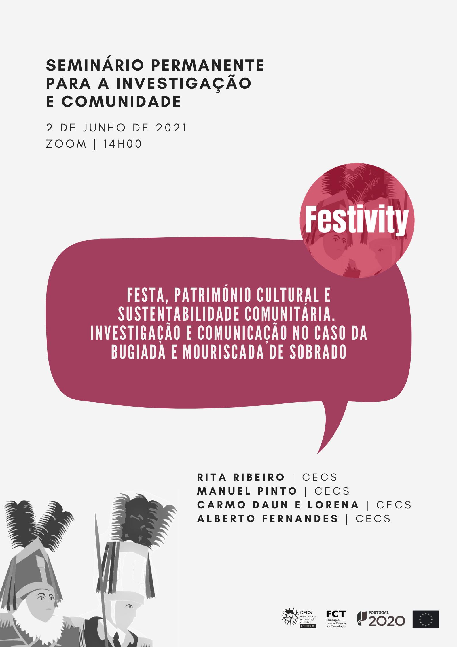 Seminário Permanente para a Investigação e Comunidade sobre projeto Festivity