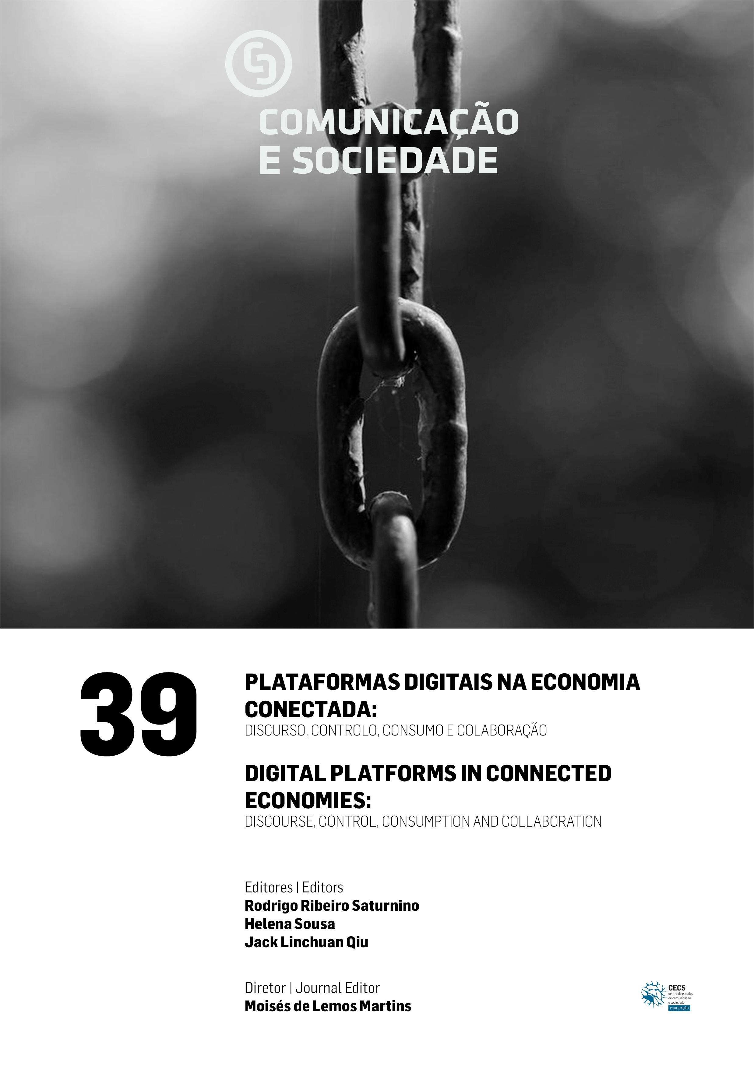 """Disponível nova Comunicação e Sociedade dedicada ao tema """"Plataformas Digitais na Economia Conectada: Discurso, Controlo, Consumo e Colaboração"""""""