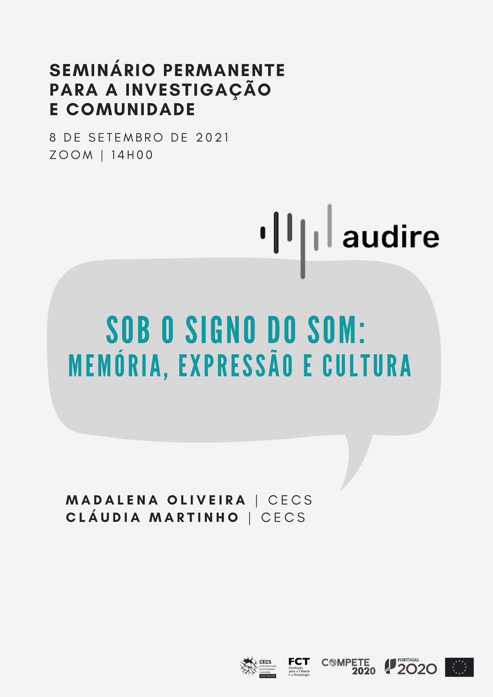 """Reveja o SPIC dedicado ao projeto Audire: """"Sob o signo do som: memória, expressão e cultura"""""""